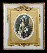 German Porcelain Plaque of Marie Antoinette