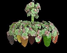 Italian Murano Glass Grape Cluster Chandelier