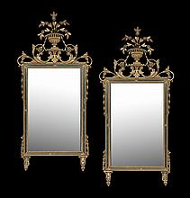 Pair of Italian Baroque Giltwood Mirrors