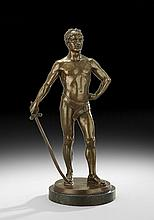 German Bronze of a Classical Athlete