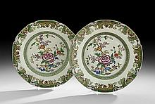 Two Chinese Export Famille Verte Plates