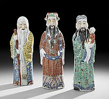 Three Chinese Porcelain Figures of Immortals