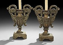 Pair of Silver Gilt Urns in the Baroque Style