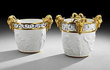 Two French Sevres-Style Porcelain Cachepots