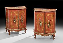 Pair of Italian Polychrome Cabinets