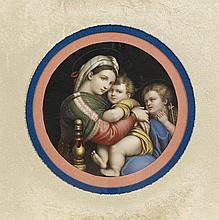 KPM Porcelain Plaque of the Madonna della Sedia