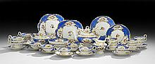 37-Piece English Hand-Painted Partial Tea Set