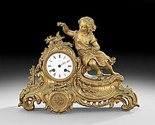 Louis-Philippe Gilt-Bronze Mantel Clock
