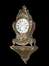 Louis XV Gilt-Bronze and Painted Bracket Clock