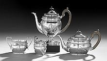 Contemporary English Silver Coffee and Tea Set