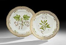 Two Royal Copenhagen Flora Danica Plates