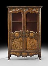 French Provincial Fruitwood Bookcase