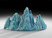 Chinese Mountain-Form Porcelain Brush Rest