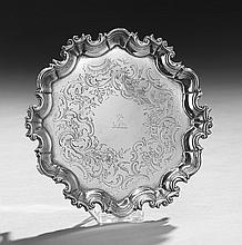 George III Irish Sterling Silver Waiter
