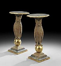 Pair of Regency-Style Torchere Tables