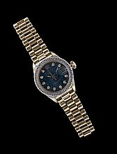 Lady's 18 Kt. Yellow Gold and Diamond Rolex