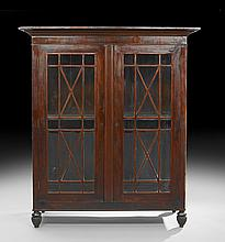 American Mahogany Display Cabinet/Bookcase