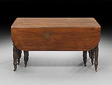 American Mahogany Drop-Leaf Extension Table
