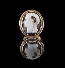 Antique Onyx Cameo Ring of Alexander the Great