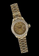 Lady's 18 Kt. Gold and Diamond Rolex Datejust