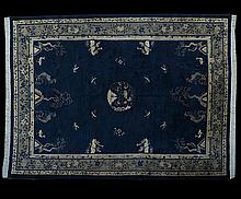 Semi-Antique Peking Chinese Carpet