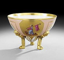 Paris Porcelain Footed Bowl, Attributed to Darte