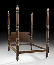 American Late Classical Mahogany Four-Post Bed