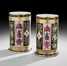 Assembled Pair of Paris Porcelain Vases