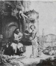 Christ and the Woman of Sumeria Among the Ruins