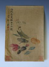 CHINESE ANTIQUE VINTAGE COLORFUL PAINTING