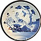 A 19TH CENTURY CHINESE BLUE AND WHITE CIRCULAR