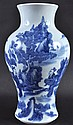 A 19TH CENTURY CHINESE BLUE AND WHITE BALUSTER