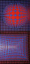 Victor Vasarely (1906-1997) Hungarian/French. Abstract, Print, 28