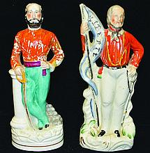 TWO SMALL FIGURES OF GARIBALDI STANDING, one with