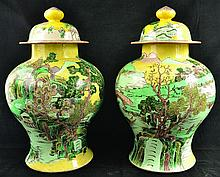 A LARGE PAIR OF 19TH CENTURY CHINESE FAMILLE VERTE