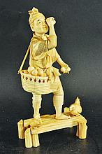A 19TH CENTURY JAPANESE SECTIONAL IVORY MODEL OF A