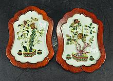 AN UNUSUAL PAIR OF 19TH CENTURY CHINESE FRAMED &