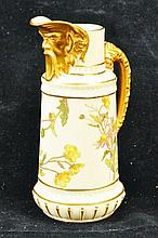 A FINE ROYAL WORCESTER MASK HEAD JUG painted and