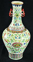 A CHINESE DOUCAI PORCELAIN VASE, the sides and