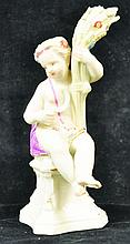AN 18TH CENTURY MEISSEN PERIOD FIGURE OF A CHILD,