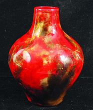 A ROYAL DOULTON FLAMBE BULBOUS VASE 5.5ins high