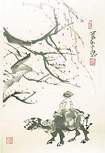 AN UNFRAMED 20TH CENTURY CHINESE PAINTING ON PAPER