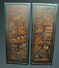 A LARGE PAIR OF 19TH/20TH CENTURY CHINESE FRAMED