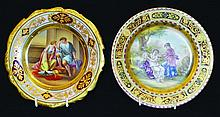 TWO SMALL VIENNA CIRCULAR PLATES,
