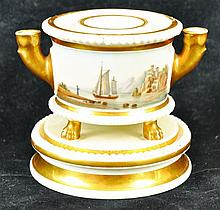 A 19TH CENTURY PARIS PORCELAIN EMPIRE-STYLE
