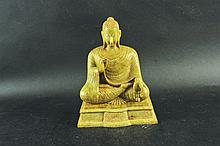 A SOUTH-EAST ASIAN JADE-LIKE MODEL OF BUDDHA,