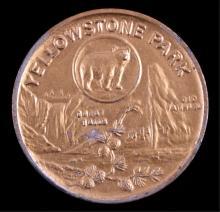 Yellowstone Park Souvenir Coin This is a Yellowsto