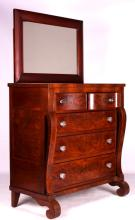 Antique Highboy Dresser with Mirror This is an ant