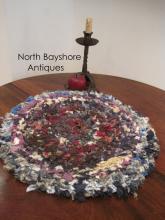 New England Shaker Multi Colored Handmade Confetti Rug 1800s