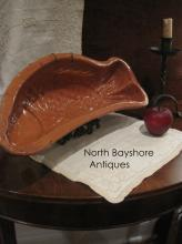 New England Huge Redware Pottery Fish Food Mold 1800s